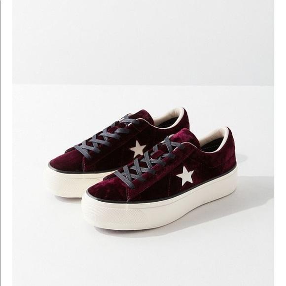 36d25ec36673 Converse one star velvet platform sneaker